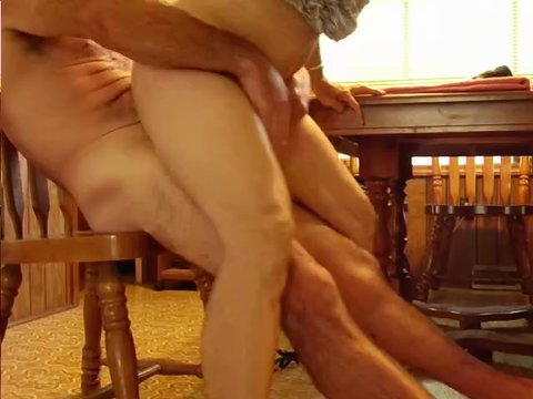 Mature ontable pounded hard
