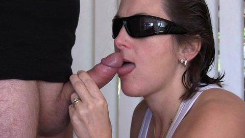 Shared BBW swallowing hubby's cum after sucking stranger
