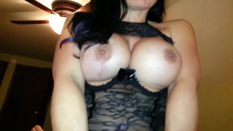 Slutty mom with huge tits gets seeded POV and takes cumshot on her cunt