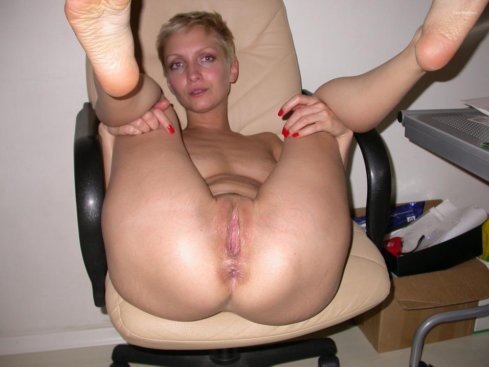 Short blonde anal