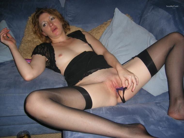 Blonde masturbating mature